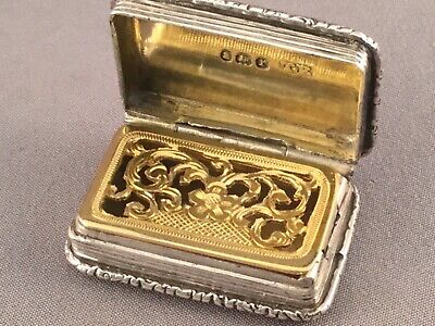 GEORGIAN SOLID SILVER VINAIGRETTE, THOMAS EDWARD, Lond 1832