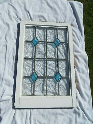 Original 1930s STAINED Leaded Glass Windows      798 x 518 mm            #7