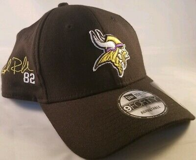 finest selection ee99d ee7f6 New Black Kyle Rudolph  82 Minnesota Vikings 9forty adj fitted hat cap New  Era