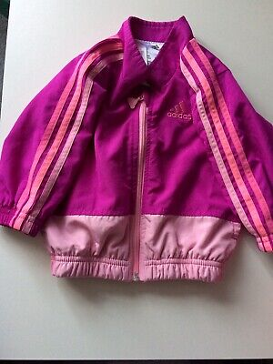 Girls Adidas Tracksuit Top, Fits Age 3-6 Months