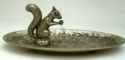 Unusual Large Silver Plate Epns Squirrel Jewellery Holder  Seba Made In England
