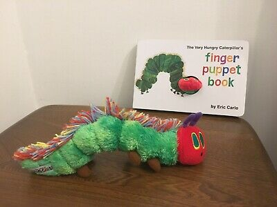 The Very Hungry Caterpillar Finger Puppet Book by Eric Carle & Soft Toy