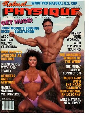 59d7e488cca NATURAL PHYSIQUE bodybuilding magazine/Jose Oliva+Summer Strother w/poster  12-90