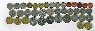 40 different coins from Singapore : 1967 - 2004