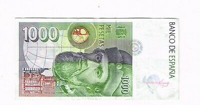 1992 Spain 1000 Pesetas bank note