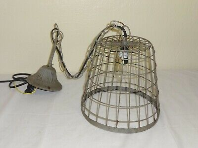 Re-purposed Wire Basket Made into Hanging Light Fixture