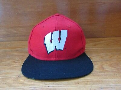 finest selection e8bd9 15e0a Wisconsin Badgers Cap Hat Logo 7 Snap-back Embroidered