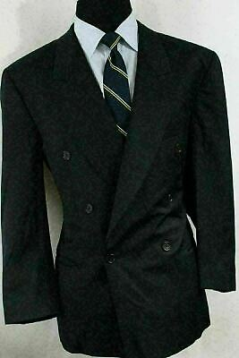 1d59b6621 44S Hugo Boss Navy Blue 100% Wool Doube Breasted Men's Sport Coat Blazer AP9