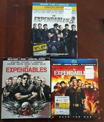 The Expendables: 3-Film Collection (Blu-ray Disc, 2017, 3-Disc Set)