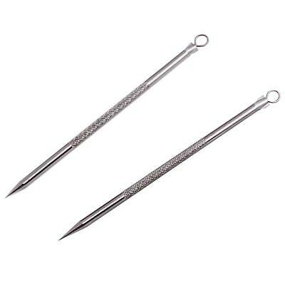 2pcs Hot Silver Blackhead Comedone Remover Acne Blemish Pimple Extractor Tool JJ