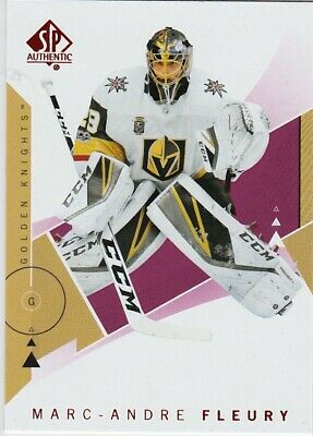 18-19 2018-19 SP Authentic Marc-Andre Fleury RED INSERT #90-Knights