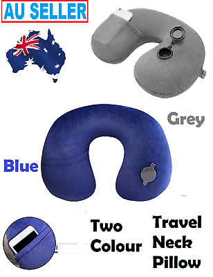 Inflatable Air Travel Soft Washable Pillow Cushion Comfortable Neck Support Sell