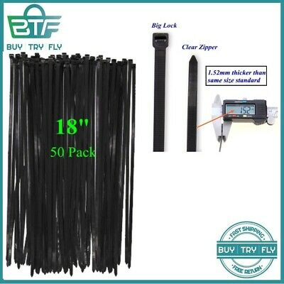 9b4eeff6f76f Long Wide 18 Inch Nylon Zip Cable Ties-Large 120LB Tensile Strength-Heavy  Duty