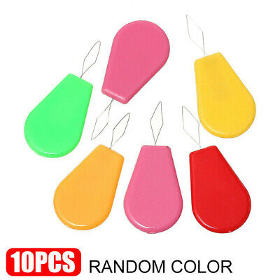 10Pcs Plastic Bow Wire Needle Threader Stitch Insertion Tools For Sewing Craft