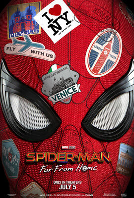SPIDER-MAN FAR FROM HOME MOVIE POSTER 2 Sided ORIGINAL Advance 27x40 TOM HOLLAND