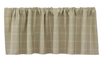 French Country New Curtain Ruffled GRAYSON LINED Kitchen Window VALANCE New