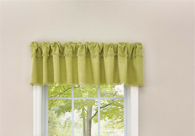 French Country Curtain Ruffled CRAWFORD ALOE Kitchen Window VALANCE 180x35cm New