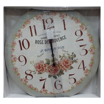 French Country Chic Vintage Inspired Wall Clocks 58CM ROSE DE PROVENCE New