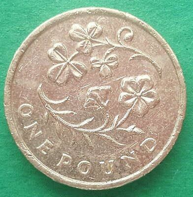 £1 One Pound Coin 2014 Floral emblem Shamrock and Flax for Northern Ireland
