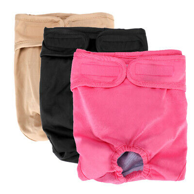 PACK of 3 Female Dog Diapers Cat LEAK PROOF Waterproof Washable Extra Large Pet