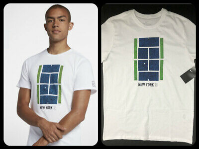 c8f41532 Nike Men's Sz Large Court US Open Icon New York Tennis White T shirt AO8583-