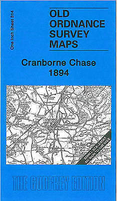 OLD ORDNANCE SURVEY MAP Cranborne Chase 1894 Inch to the Mile Sheet 314