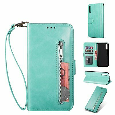 Leather Flip Wallet Case For iPhone X XR XS MAX 6 7 8 Plus Card Slot Zip Cover