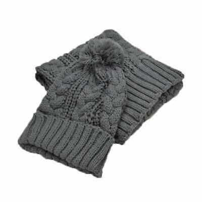 Women Winter Girls Knitted Scarf and Hat Set Warm Knitting Thicken Caps Set