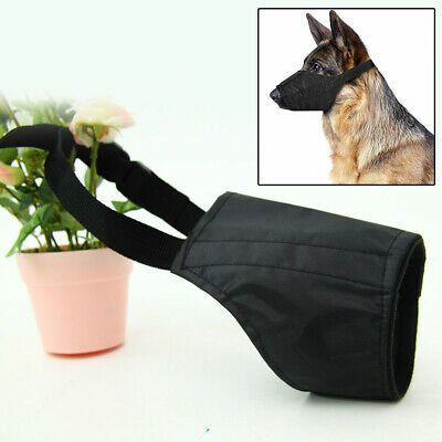Adjustable Mouth Muzzle Cover For Dog Pet Training Bark Bite Chew Control UK !