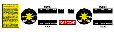 Street Fighter 2 Champion Edition Arcade CPO Button Joystick Stickers