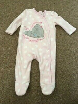 Baby Girls Me To You Tatty Teddy Pink Fleece Sleepsuit 3-6 Months George B46
