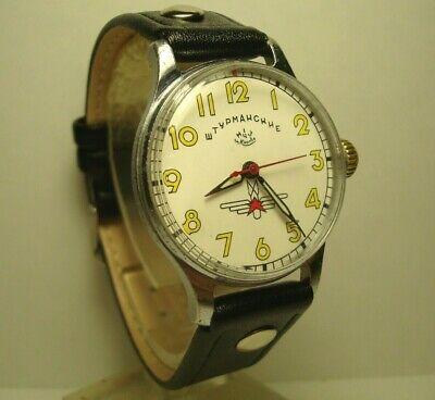 Poljot Shturmanskie Gagarin 1950s mens wrist watch Vintage USSR RARE Serviced