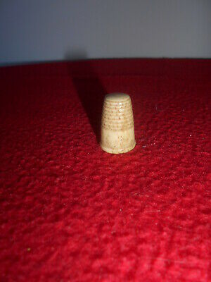 19th Century, thimble antique, hand carved dieppe