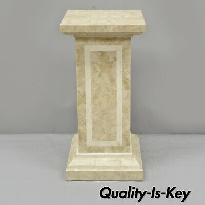 """Tessellated Stone 29"""" Column Pedestal by Marquis Collection of Beverly Hills"""