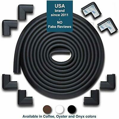 5m//20ft Black 16.5ft Edge Cushion + 8 Corner Cushion Furniture Bumpers /& Corner Cover; Baby Proofing Edge Desk Table Protector; Fireplace Guards For Child Safety Corner Guards And Edge Bumpers