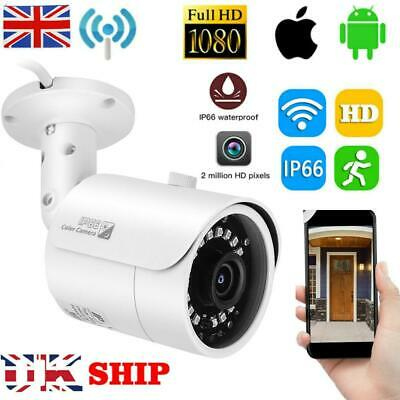 2.0MP WiFi 1080P HD IP Network Camera Outdoor CCTV Security IR Night Wireless