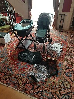 Uppababy Vista Travel System Carrycot Pushchair Piggyback Buggy Board