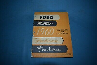 1960 Ford Meteor Chassis Parts Catalog Falcon Frontenac Canadian Catalogue List