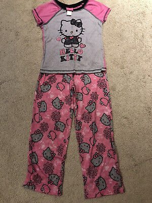 988e8048f NEW HELLO KITTY Girls Cotton Pajama Set - 2 Pairs with Sleep Mask ...