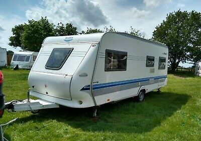 Hobby Prestige 560 UK Caravan (6 berth / bunk beds): Perfect Family Van