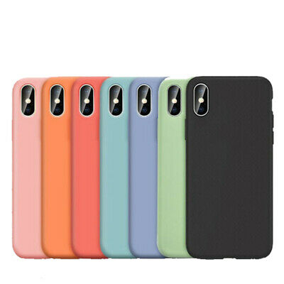 Shockproof Bumper Silicone Soft Case Cover For iPhone XS Max XR 6 7 8 Plus UK