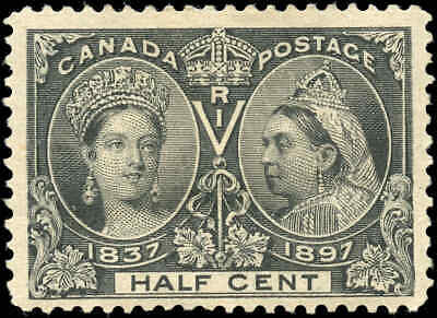 1897 Mint Canada Scott #50 1/2c Diamond Jubilee Stamp Issue Hinged