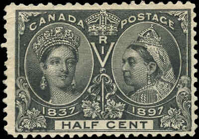1897 Mint Canada Scott #50 1/2c Diamond Jubilee Issue Stamp No-Gum