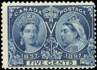 1897 Mint Canada Scott #54 5c Scott #54 Diamond Jubilee Issue Stamp Hinged