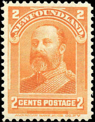 Mint Canada Newfoundland 1897-1901 2c Scott #81 Royal Family Stamp Hinged