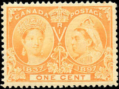 1897  Mint Canada Scott #51 1c Diamond Jubilee Issue Stamp VERY FINE Hinged