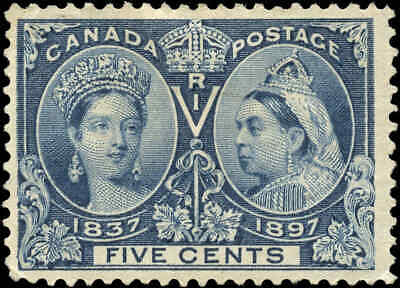 1897 Mint Canada Scott #54 5c  Diamond Jubilee Issue Stamp Hinged