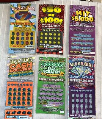 $861 FACE VALUE Lottery Tickets Non-Winning California