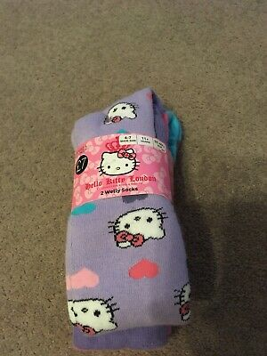 2eb21d740 GIRLS LADIES 3 Pack Hello Kitty Socks 4 Sizes New B - £4.99 ...