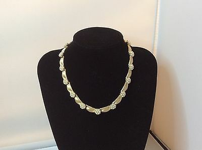 CROWN TRIFARI GOLD TONE NECKLACE, WITH SIMULATED PEARLS, C1950s/1960's